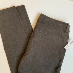 NWT Grey Old Navy Pixie Pants Mid-Rise Pant Size 4